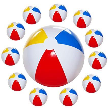 Beachball clipart beach accessory. Kicko pack inflatable balls