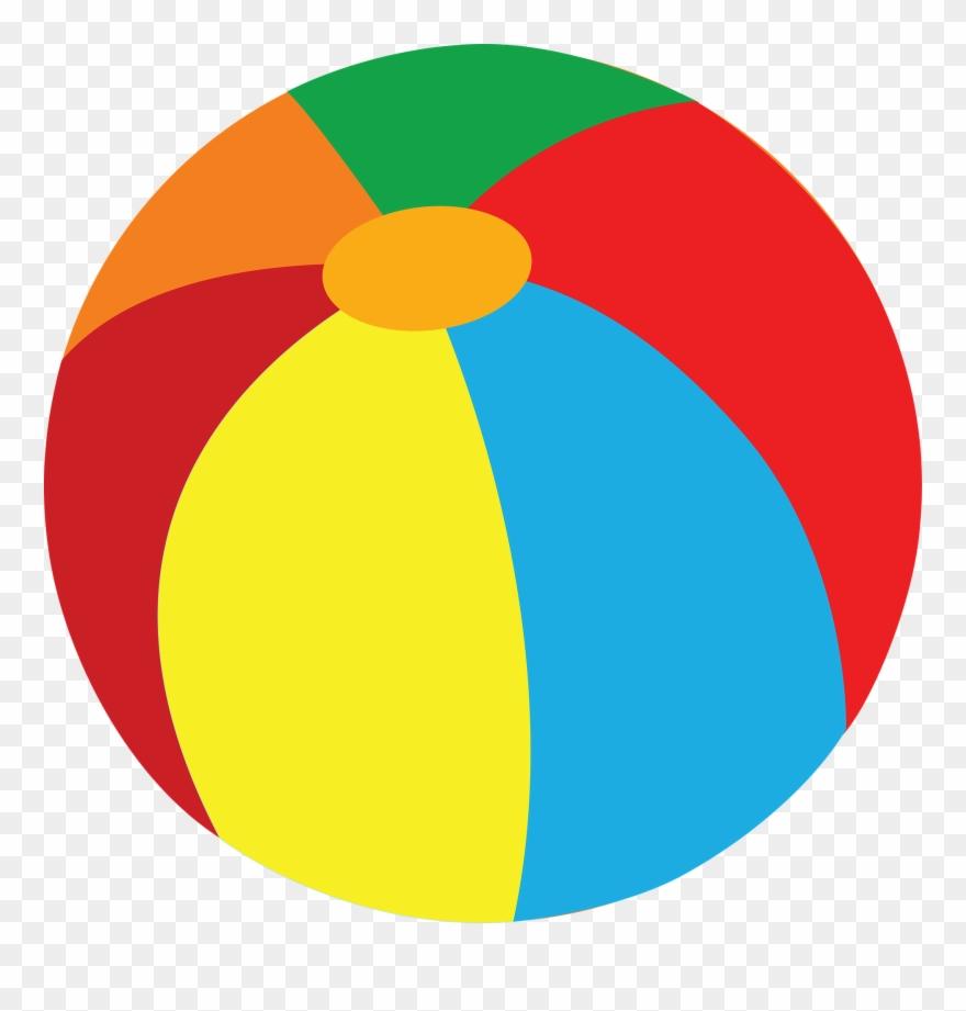 Beachball clipart beach game. Ball addition math illustration