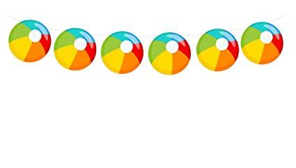 Beachball clipart beach theme. Amazon com ball garland
