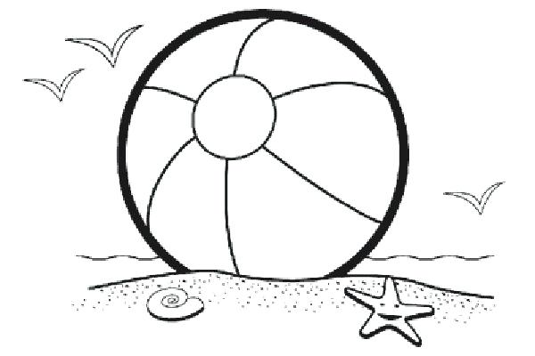Beachball clipart beach umbrella. Coloring pages of the