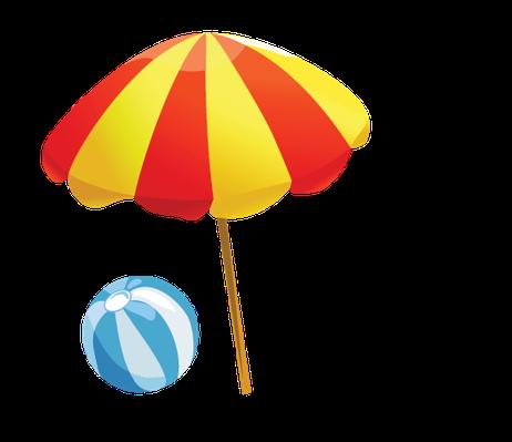 Beachball clipart beach umbrella. Baby items on the