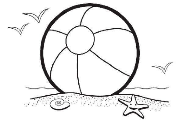 Beach ball scene clip. Beachball clipart beachy