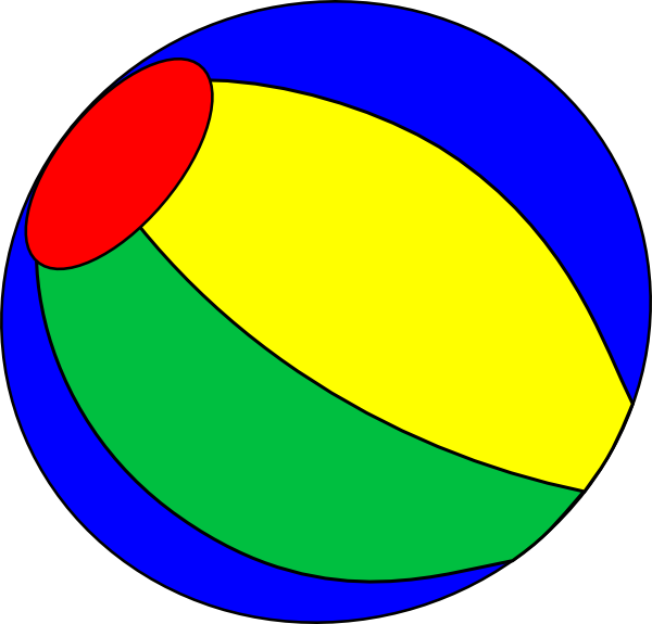 Bouncing beach blue . Beachball clipart big ball