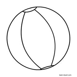 Beach ball clip art. Beachball clipart black and white