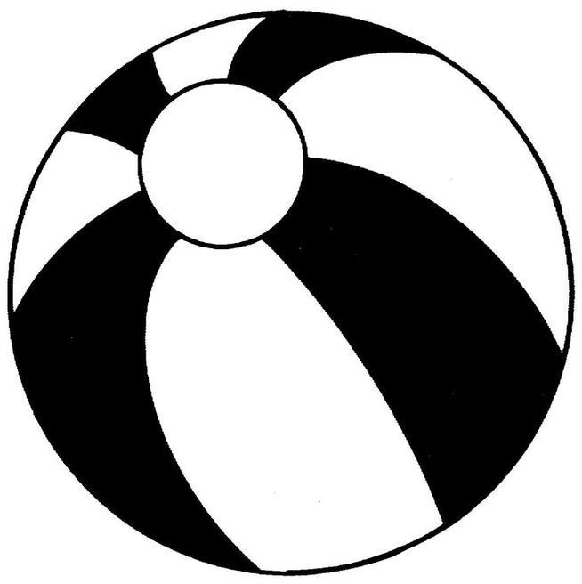 Beachball clipart black and white. Beach ball clip art
