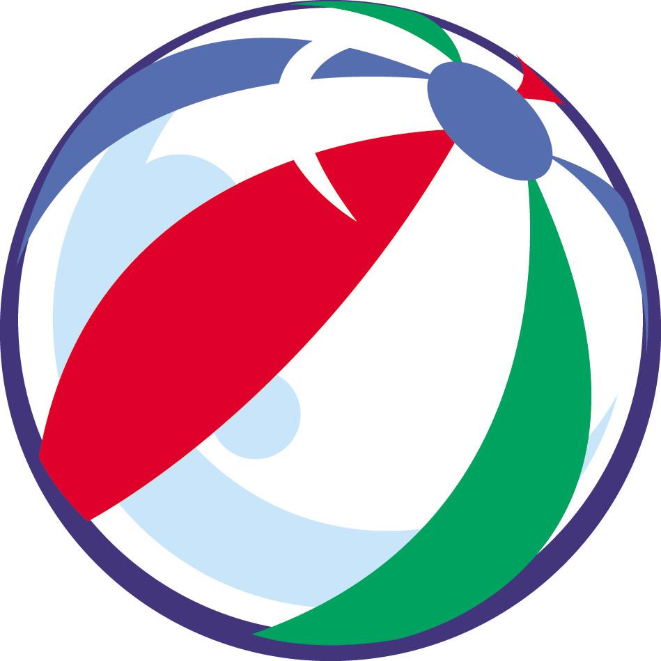 Summer beach ball clip. Beachball clipart boll