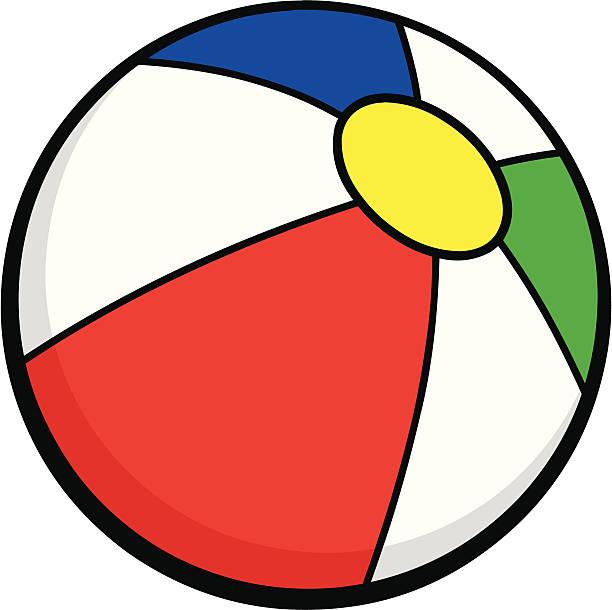 Image of beach ball. Beachball clipart cartoon