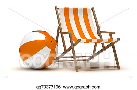 Stock illustrations beach and. Beachball clipart chair