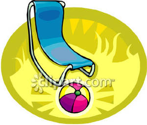 Beachball clipart chair. A beach ball and