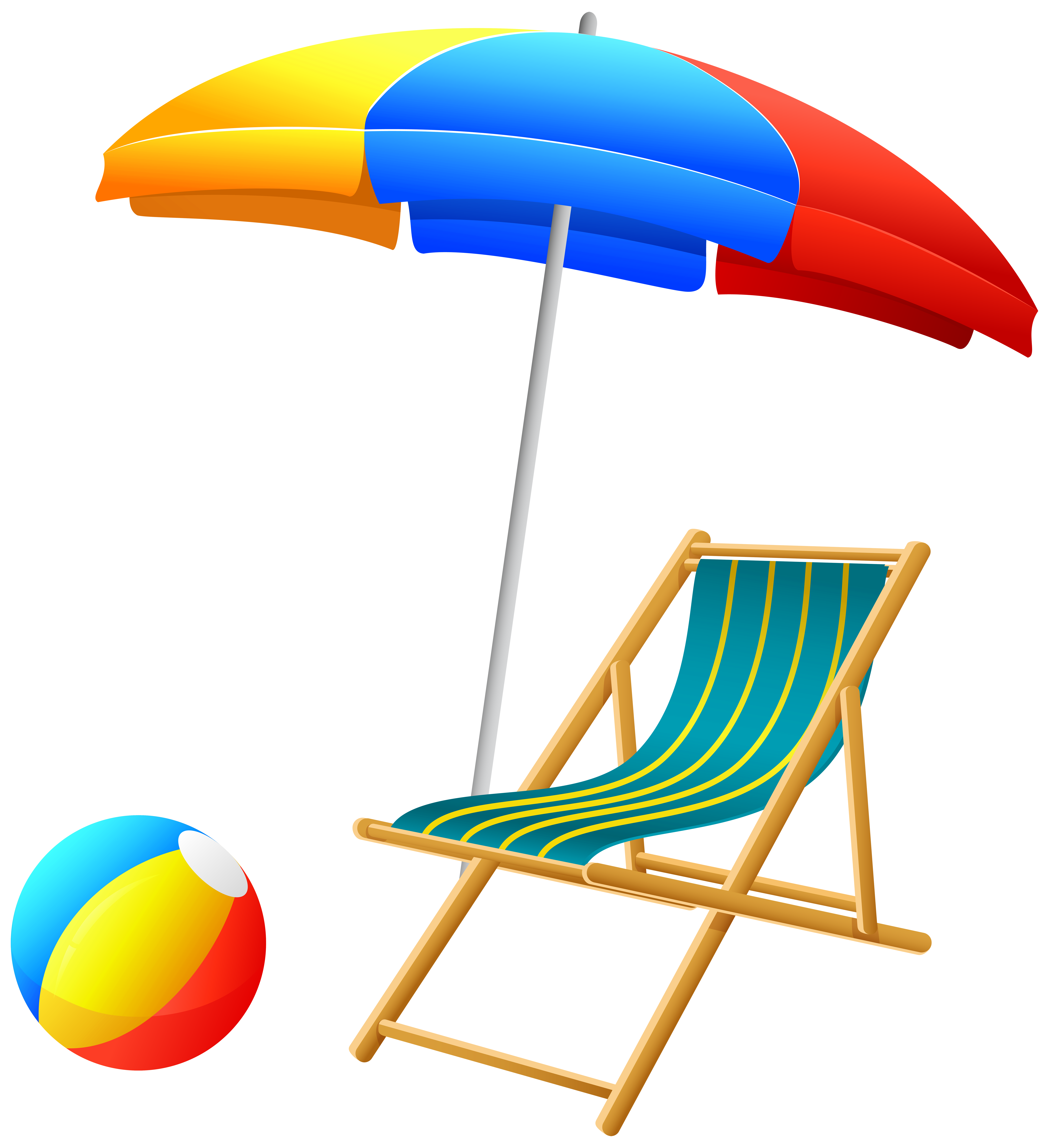Beachball clipart chair. Beach umbrella with and