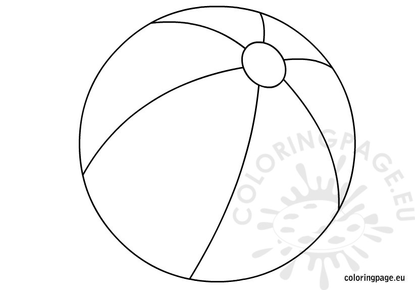 Beachball clipart circle object. Beach ball coloring page