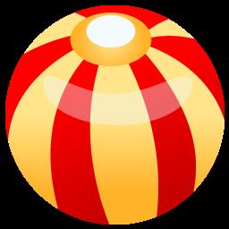 Beach ball icon iconset. Beachball clipart circular object