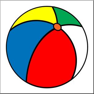 Clip art beach i. Beachball clipart color ball