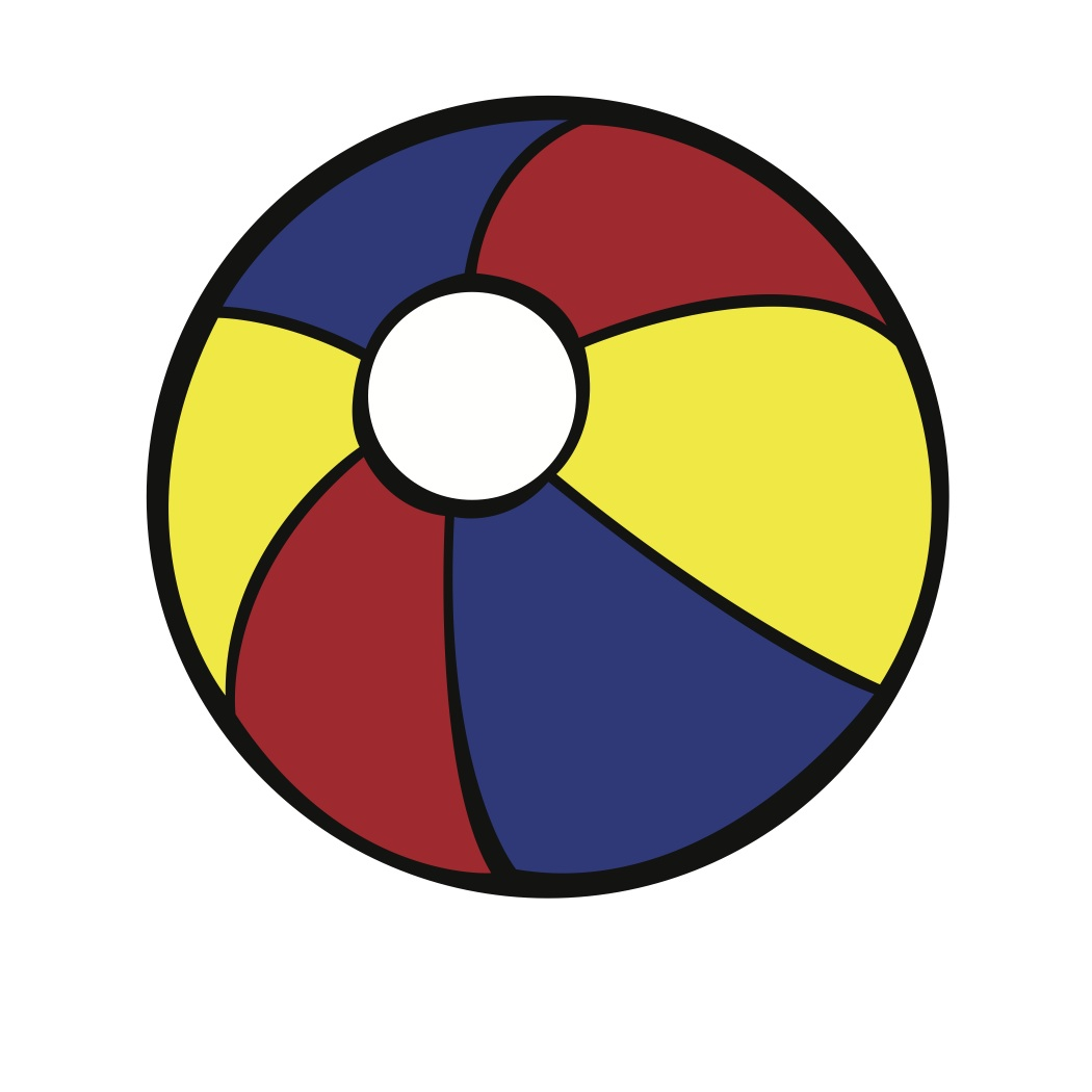 Free picture of beach. Beachball clipart colored ball