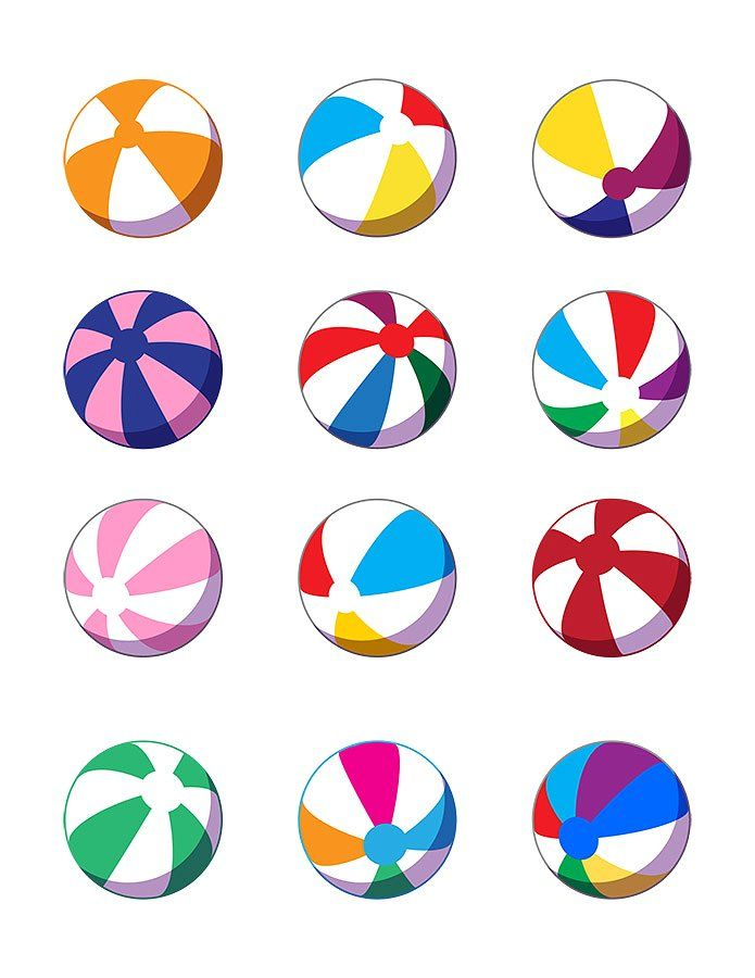 Beachball clipart colorful ball.  beach balls vector