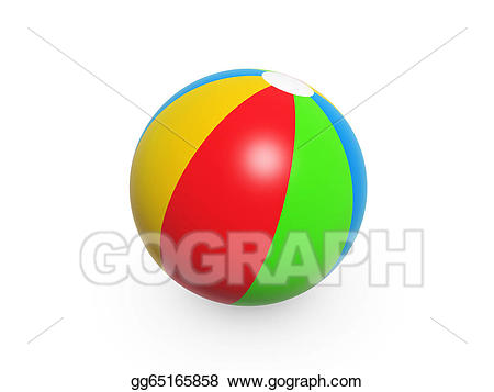Beach stock illustration gg. Beachball clipart colorful ball