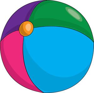 Beachball clipart colourful ball. Free beach image baby