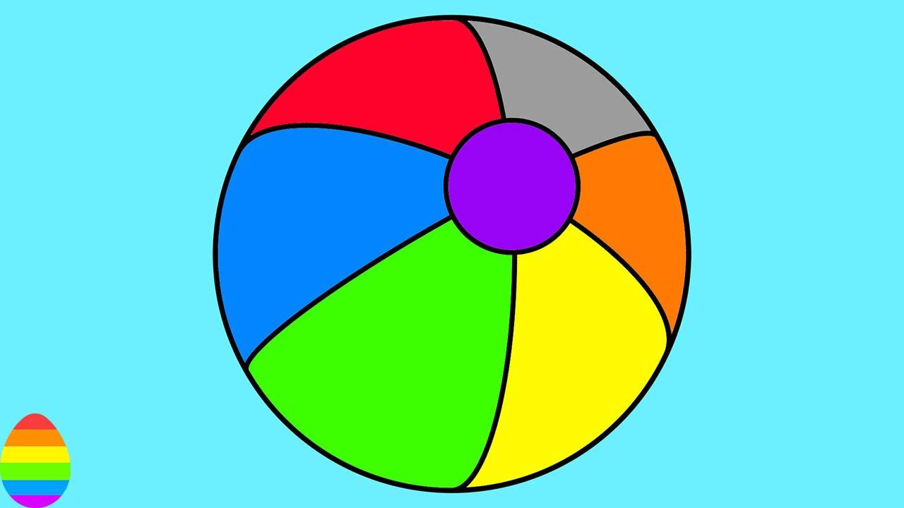 Learn colors with beach. Beachball clipart colourful ball