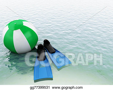 Beachball clipart equipment. Stock illustration d blue