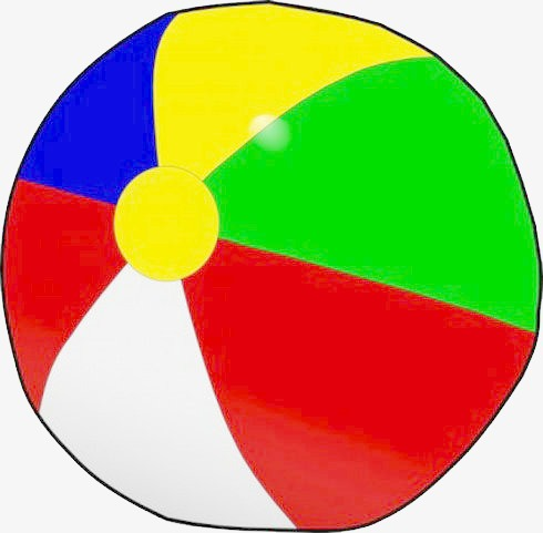 Beachball clipart equipment. Colorful beach ball leisure