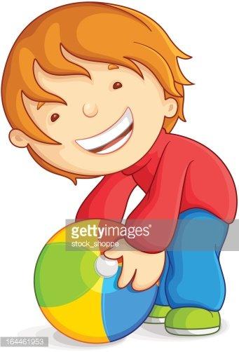 Playing with beach ball. Beachball clipart kid