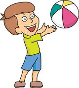 Free children kids clip. Beachball clipart kid
