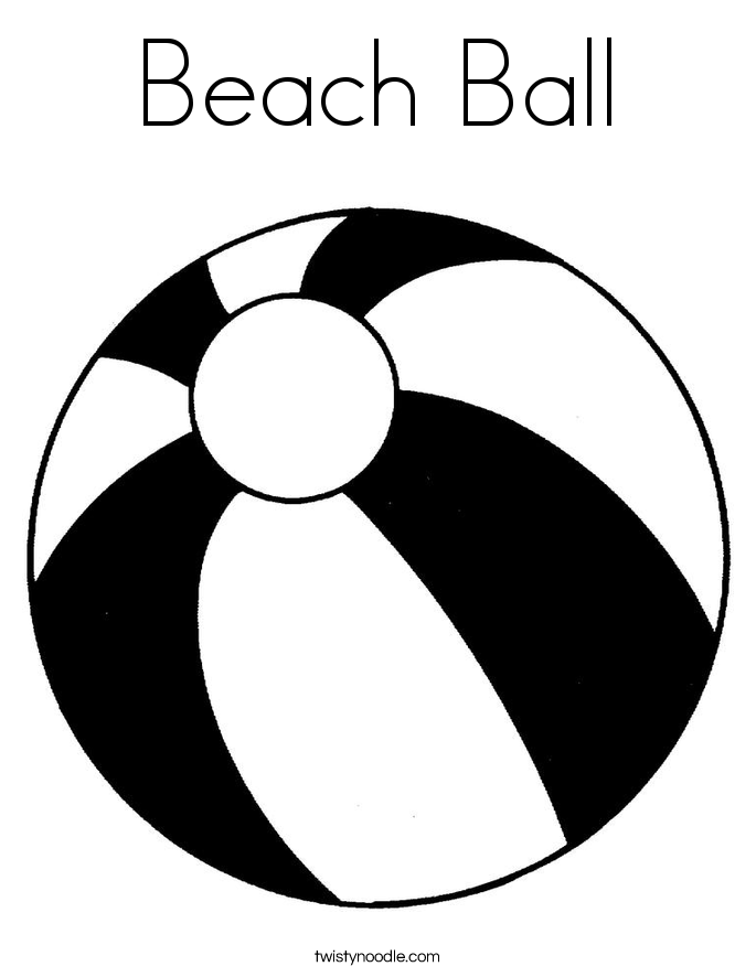 Beachball clipart many ball. Beach coloring page twisty