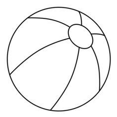 Beachball clipart outline. Beach ball template clip
