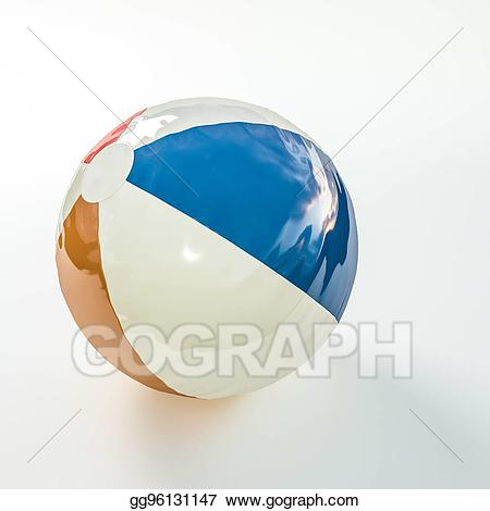 Beachball clipart plastic ball. Stock illustration beach drawing