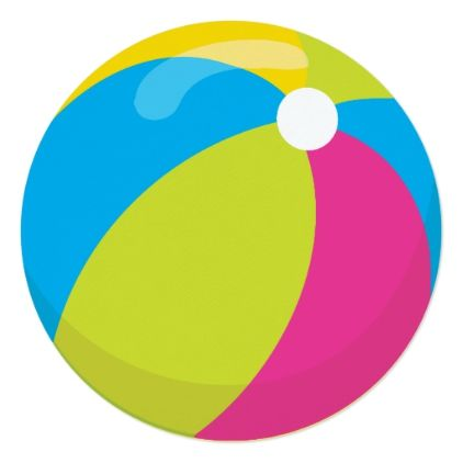 Beachball clipart pool party. Beach ball invitation zazzle