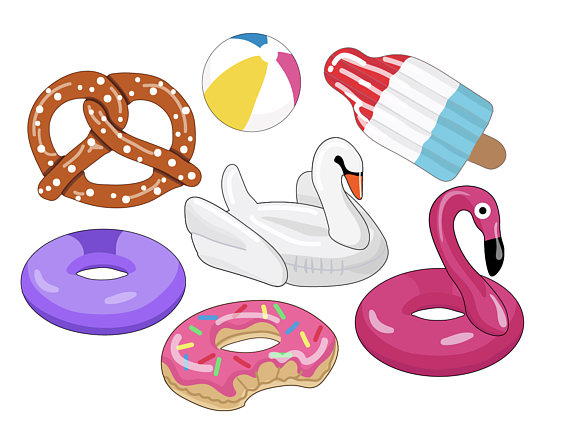 Floaties party images swan. Beachball clipart pool toy