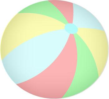 Beach ball in clipartix. Beachball clipart pool toy