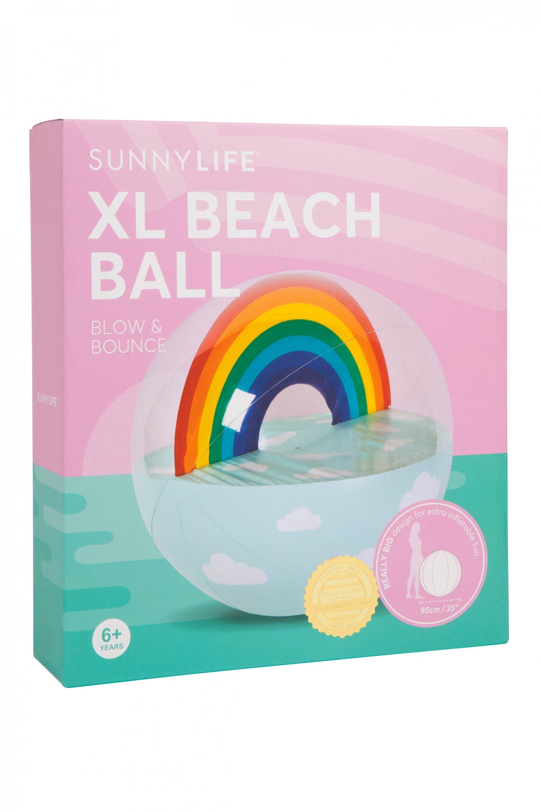 Xl beach ball swimming. Beachball clipart rainbow