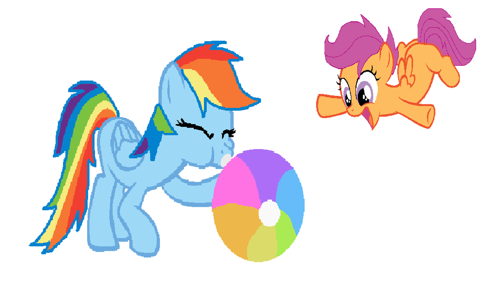 Image fanmade dash inflating. Beachball clipart rainbow