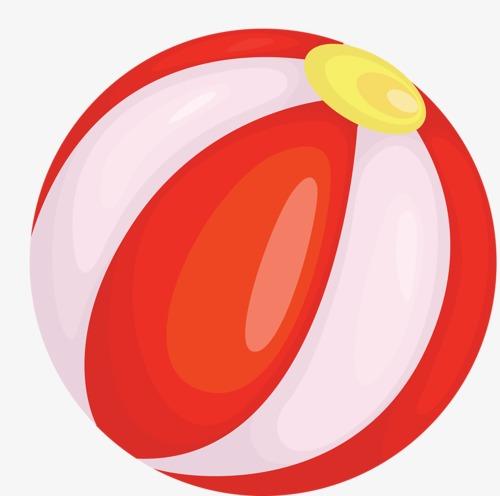 Beachball clipart simple beach. Red ball cartoon sandy