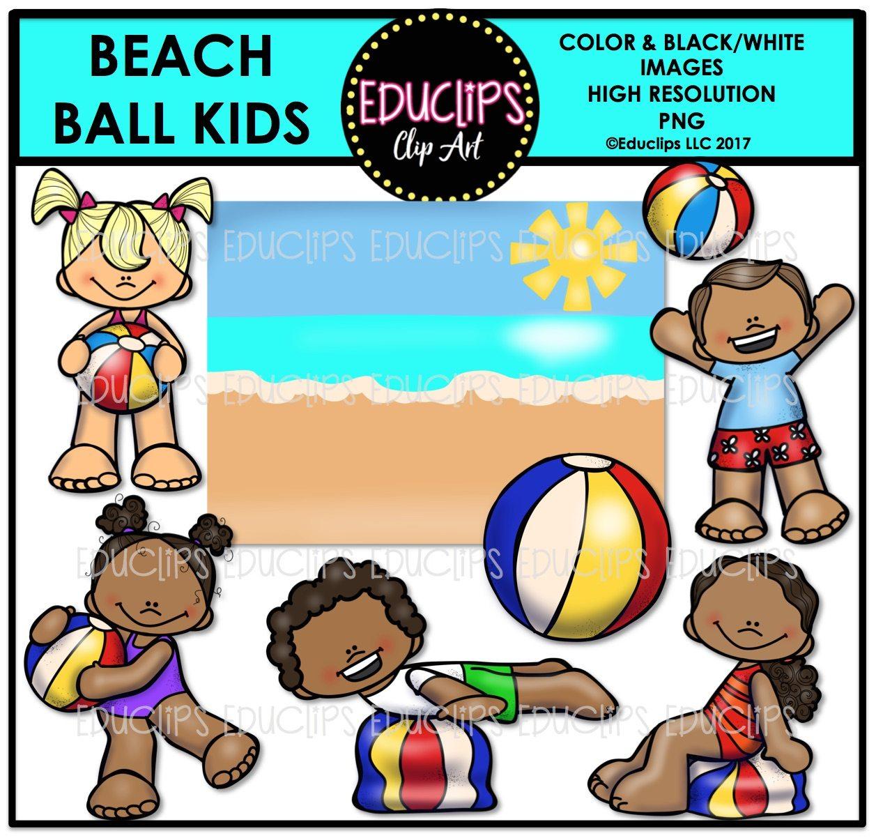 Beachball clipart simple beach. Ball kids clip art