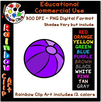Ball rainbow colors commercial. Beachball clipart simple beach