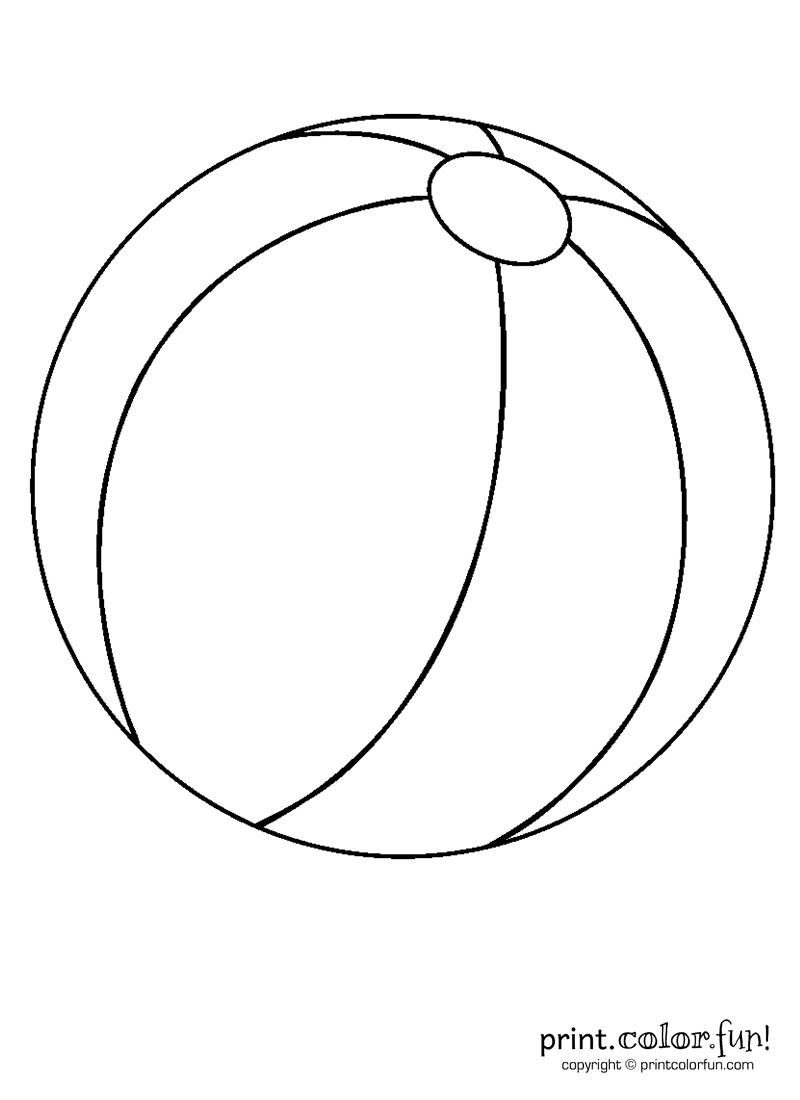 Beachball clipart sphere object. Beach ball coloring page