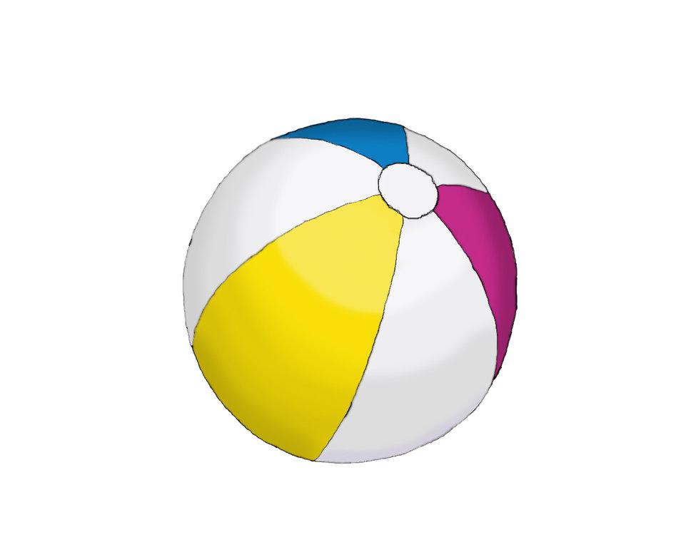 Beachball clipart sphere object. Illustration by ceraisian alchemist