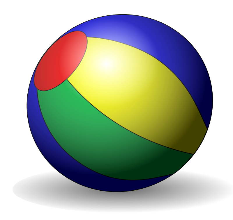 Beachball clipart sphere object. Free picture of beach