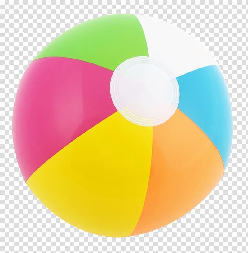 Multicolored beach ball illustration. Beachball clipart sphere object