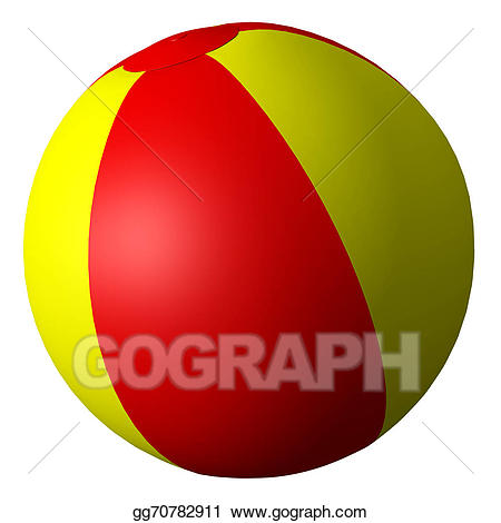 Beachball clipart sphere object. Stock illustration beach ball