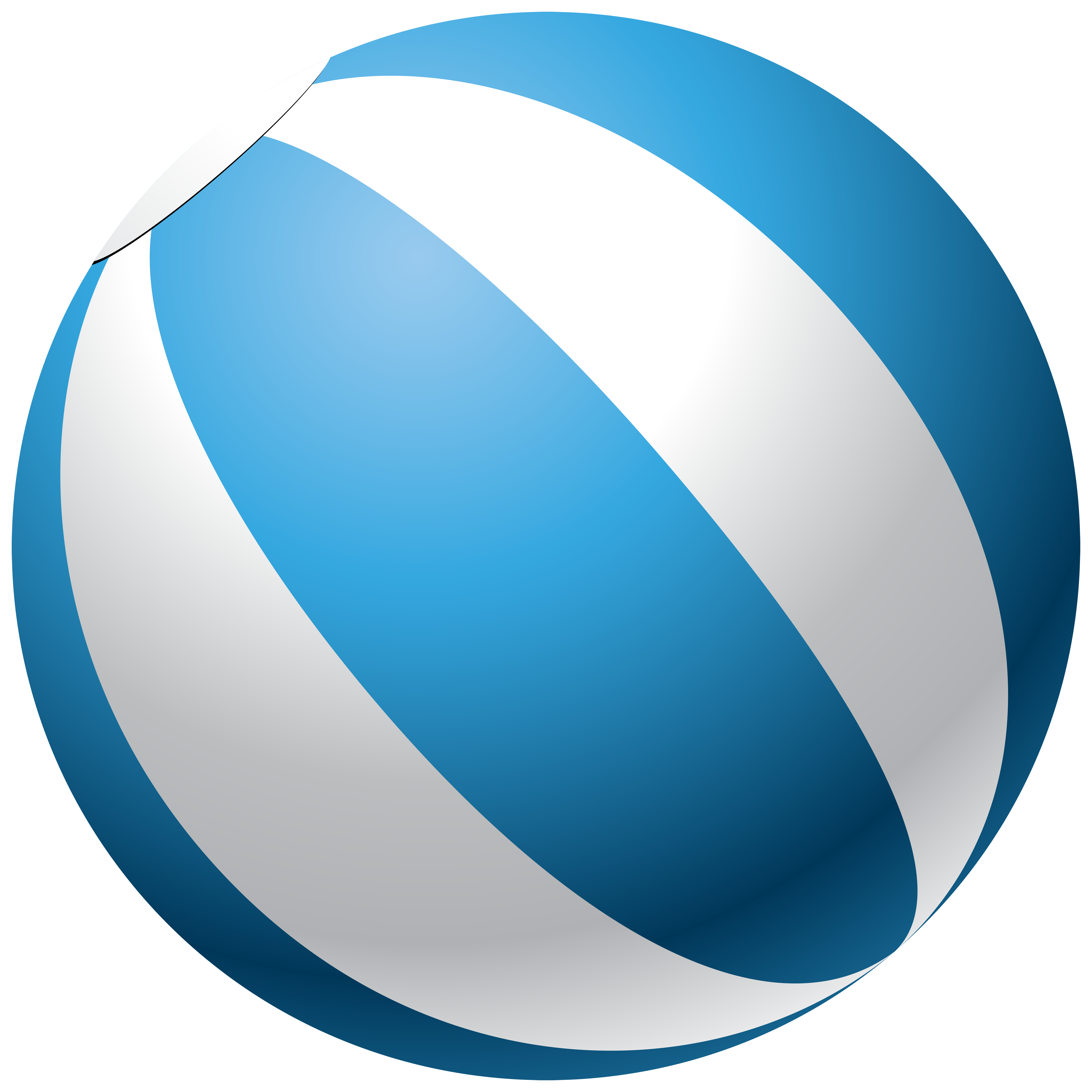 Beach ball transparent clip. Sunny clipart blue