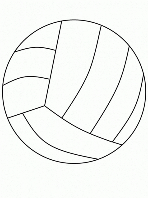 Coloring pages to print. Beachball clipart volleyball