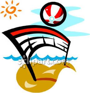 Beachball clipart volleyball. A beach ball and