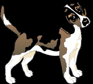 Black and white clip. Beagle clipart