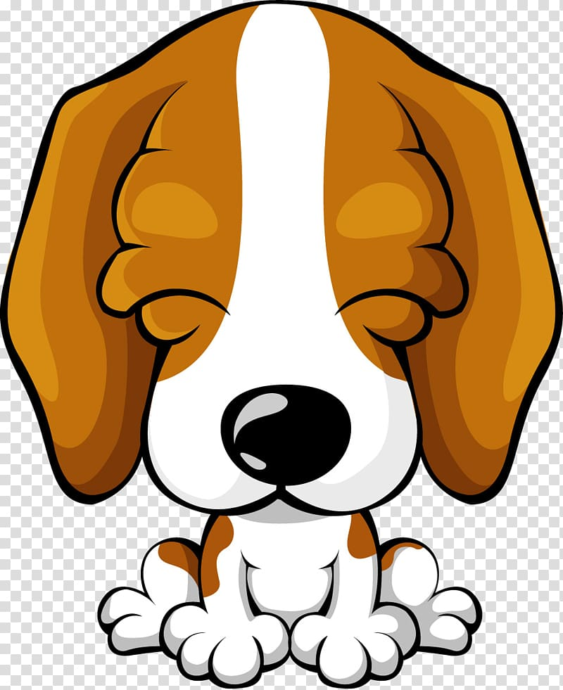 White and brown art. Beagle clipart adorable puppy