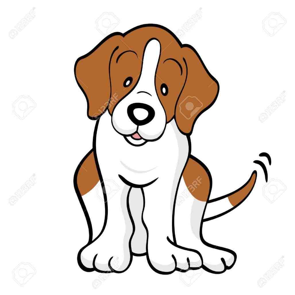 Cute hound chinacps clip. Beagle clipart animated