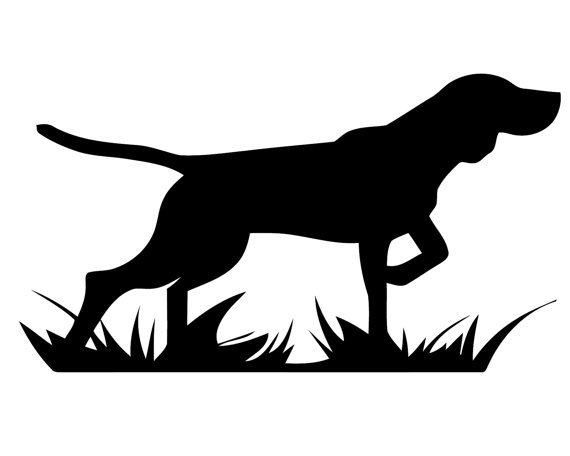 Beagle clipart beagle hunting. Pointing dog silhouette crafting