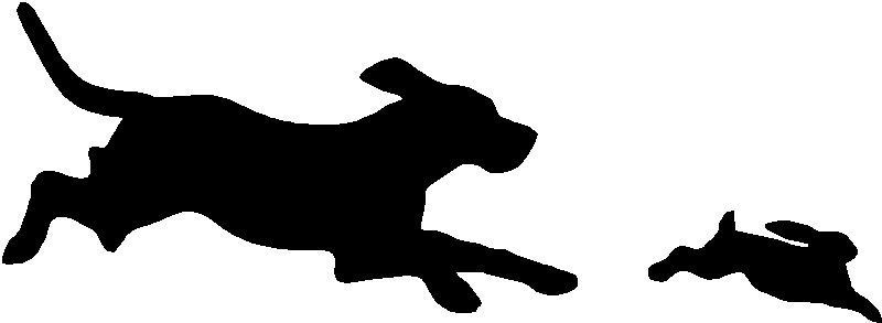 Rabbit sticker decal graphic. Beagle clipart beagle hunting